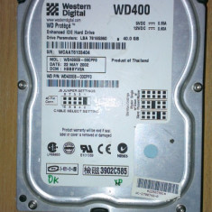 HDD PC Western Digital WD400 40Gb IDE - Hard Disk Western Digital, Sub 40 GB