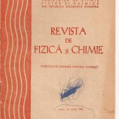 (C4976) REVISTA DE FIZICA SI CHIMIE, IULIE 1978 - Carte Fizica