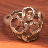 Vintage Sterling Silver (Ag925) -- Inel 'swirl', 3.8 gr!!! - Inel argint