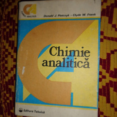 Chimie analitica - Donald Pietrzyk / Clyde Frank