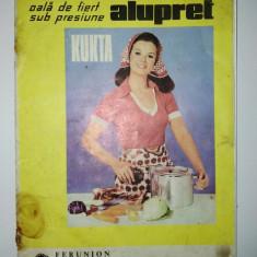 Reclama - prezentare Kukta - cucta ( oala de fiert sub presiune), anii '70 - Cutie Reclama
