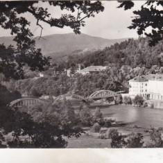 Bnk cp Calimanesti - Podul peste Olt - uzata - Carte Postala Oltenia dupa 1918