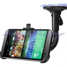 Suport auto parbriz HTC ONE 2 M8 + incarcator dual usb si cablu date + folie