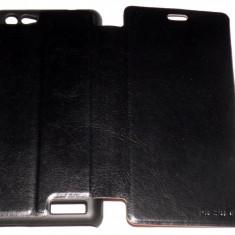 Husa Protectie Toc Flip Cover Allview X1 Soul mini + Folie de protectie CADOU!!!, Negru, Piele Ecologica