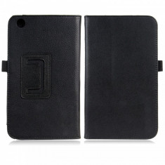 "Husa piele neagra Samsung Galaxy Tab 3 8.0"" T310 T311 T315 + folie protectie ecran + expediere gratuita Posta - sell by Phonica"