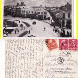 Giurgiu- Piata - Carte Postala Muntenia dupa 1918, Circulata, Printata