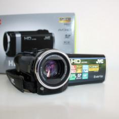 Camera video JVC everio full HD 8GB + card 8 GB aproape noua, Intre 3 si 4 inch, Card Memorie, CMOS, 30-40x