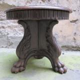 Masuta veche sculptata in lemn masiv antica, Renastere Italiana