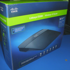 Router Linksys Wireless-N E1200 - Router wireless Linksys, Port USB, Porturi LAN: 4