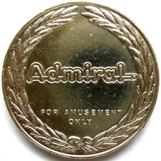JETON 1950s ADMIRAL Novomatic International, DIAMETRU 26mm., 8g. - Jetoane numismatica
