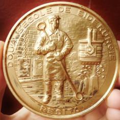 AuX: Medalie aniversara din bronz masiv -
