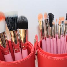 Set make up 16 pensule machiaj Fraulein38 + butoias depozitare - Pensula machiaj