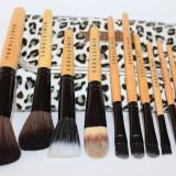 Trusa machiaj makeup 12 pensule machiaj + borseta depozitare leopard Fraulein38