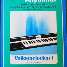 Partitura muzica / Manual pentru orga electronica, Melodie & Rhythmus, caietul 11, in germana (autor Willi Nagel), 10 cantece