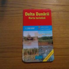 DELTA DUNARII - 1: 200000 -- Harta Turistica in lb. romana si engleza - Harta Romaniei