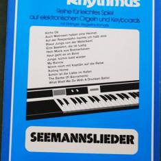 Partitura muzica / Manual pentru orga electronica, Melodie & Rhythmus, caietul 2, in germana (autor Willi Nagel), 14 piese