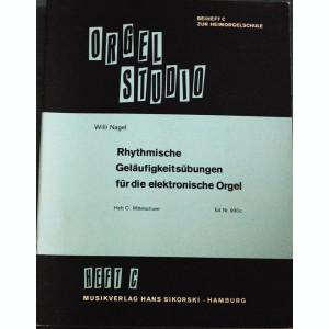 Partitura muzica / Manual pentru orga, ORGEL STUDIO, caietul C, in germana (autor Willi Nagel), 20 de piese