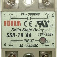 Releu static, 80...250V, c.a., 24 - 380V, c.a.-10A, SSR10AA-128511
