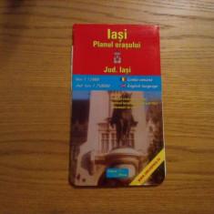 IASI  - Planul Orasului 1: 13000 * JUDET IASI - 1 ; 250000 -- Harta in lb. romana si engleza