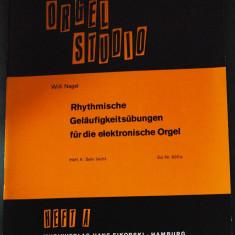 Partitura muzica / Manual pentru orga, ORGEL STUDIO, caietul A (incepatori), in germana (autor Willi Nagel), 25 de piese