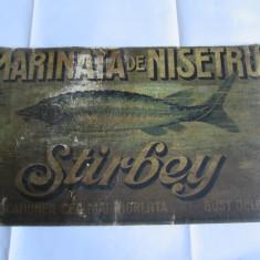 RARITATE! RECLAMA PE CARTON:MARINATA DE NISETRU STIRBEY ANII 30 - Reclama Tiparita