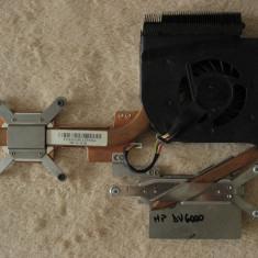 Cooler ventilator cu radiator laptop HP Pavilion dv6000, FORCECON F6D1-CCW, DFS531205M30T, 431449-001, FOX3IAT8TATP553A, DC 5V 0.5A