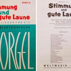 Partitura muzica pentru orga, Stimmung und gute Laume, volumul III, fur die Elektronische Orgel, in germana, 26 piese