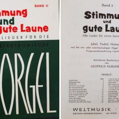 Partitura muzica pentru orga, Stimmung und gute Laume, volumul II, fur die Elektronische Orgel, in germana, 27 piese