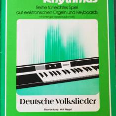 Partitura muzica / Manual pentru orga electronica, Melodie & Rhythmus, caietul 1, in germana (autor Willi Nagel), 25 piese
