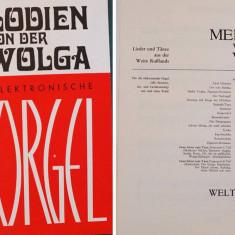 Partitura muzica pentru orga, Melodien von der Wolga, fur the Elektonische Orgel, in germana, 17 piese
