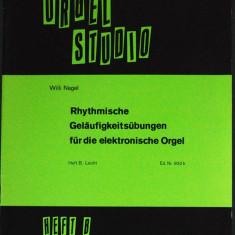 Partitura muzica / Manual pentru orga, ORGEL STUDIO, caietul B, in germana (autor Willi Nagel), 25 de piese