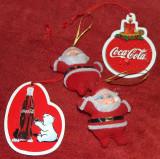 4 jucării Coca Cola, de Crăciun