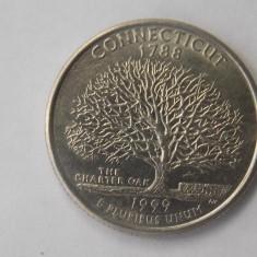 QUARTER DOLLAR USA 1999 CONNECTICUT