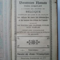 Carte Rugaciuni FRANCEZ SI LATIN, 1895 - Carte de rugaciuni