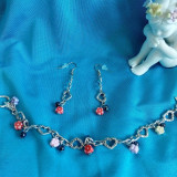 Cercei si bratara handmade - Set bijuterii handmade si fashion