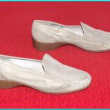 DE FIRMA _ Pantofi dama, NOI, din piele moale, foarte comozi ARA _ femei | nr 40 - Pantof dama Ara, Culoare: Bej, Piele naturala