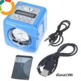 BOXA PORTABILA CU RADIO MP3 SLOT USB SI CARD SD Albastru