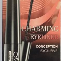 Set Tus lichid pentru ochii + creion sprancene maro+creion negru Charming Eyeliner