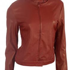 Geaca / Jacheta Piele Eco Tip Zara-Biker-Originala Interval -50% REDUCERE!! - Geaca dama, Marime: 36, 38, 40, Culoare: Burgundy