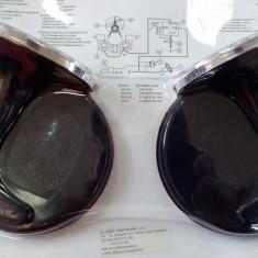 Claxon auto universal 24V cu grila crom si releu