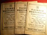 3 Fascicole -Tainele Destinului -autor Astrolog Indian Tadj Kamayanou 1991, Alta editura