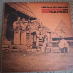 Cantece de nunta din maramures disc vinyl lp muzica populara folclor electrecord, VINIL