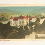 CARTE POSTALA BAILE CALIMANESTI-HOTELURILE JEANTEA NR 1SI 2 ANII 20 - Carte Postala Oltenia dupa 1918, Circulata