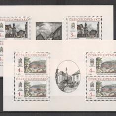Cehoslovacia.1988 Motive istorice din Bratislava-coli mici EB.85 - Timbre Romania, Nestampilat