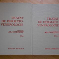 AL. COLTOIU--TRATAT DE DERMATO-VENEROLOGIE 2 volume - Carte Dermatologie si venerologie