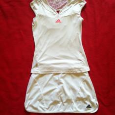 Costum tenis fete Adidas 12-14 ani, Culoare: Alb, Marime: S, Alb