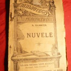 A. Vlahuta - Nuvele - Ed. 1908, BPT nr. 319, Ed. L.Alcalay - Carte veche