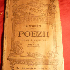 C.Negruzzi - Poezii - Ed. 1929 Ed.Universala Alcalay, BPT nr. 336 - Carte veche