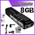 Reportofon Digital 8GB, 850 ORE inregistrare, Activare Vocala+CADOU!