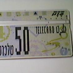 CARTELA TELEFONICA TELECARD - ISRAEL 1990 - Cartela telefonica straina
